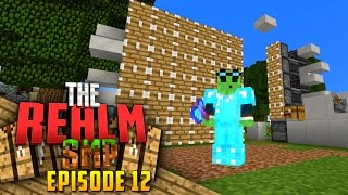 Minecraft PE Realms SMP - Ep.12 : Auto Tree Farm!