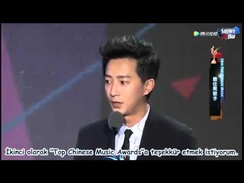 """160409 """"Top Chinese Music Awards 2016"""" Hangeng Ödül Konuşması"""