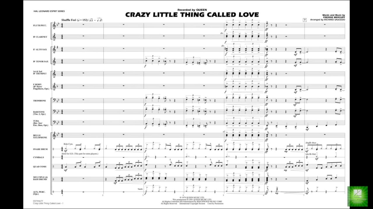 Crazy Little Thing Called Love By Freddie Mercury Arr Richard L Saucedo