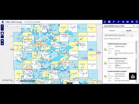 5c Query by Name - Otter Tail County, MN GIS Web App