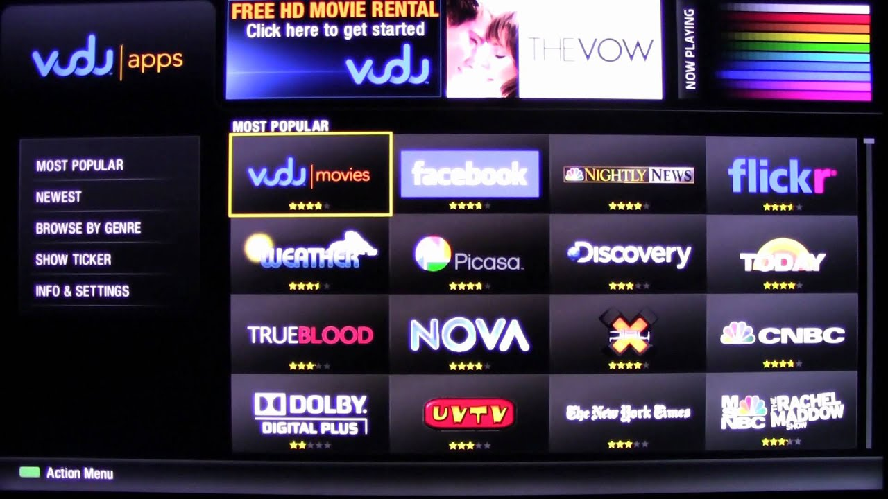 Walkthrough of the Sharp 2012 Smart TV