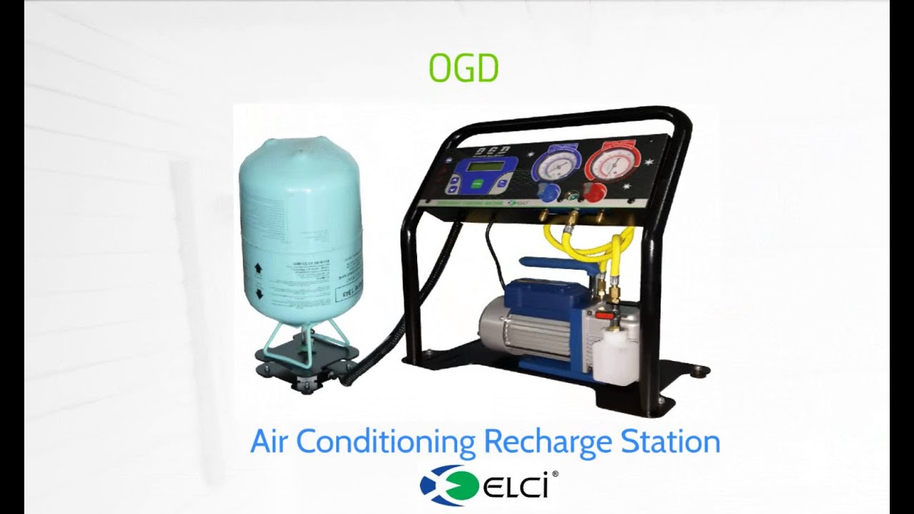ogd air conditioning recharge station a/c service machine a/c  #115DBA