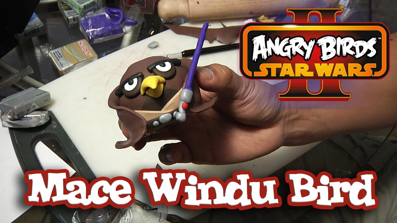 MACE WINDU Bird Clay Model - Angry Birds STAR WARS II ... Angry Birds Star Wars 2 Mace Windu 3d