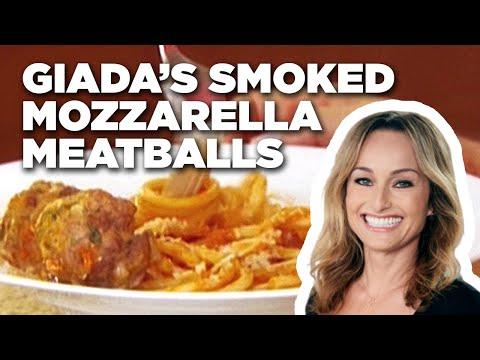 Giada's Smoked Mozzarella Meatballs  Food Network