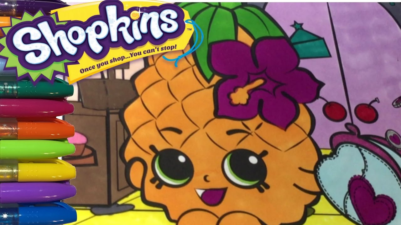 shopkins coloring pages pineapple crush - photo #27