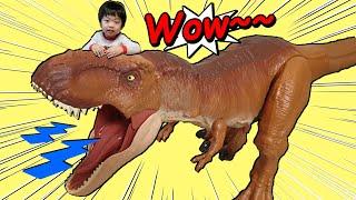 쥬라기월드 거대 공룡 티라노사우루스 티렉스 장난감 리뷰  Mattel Jurassic World Giant T-REX toy review