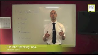 5 Public Speaking Tips for your voice