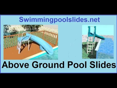 diy above ground pool slide walmart above ground pool slides youtube