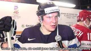 Joonas Kemppainen po zápase Finsko – Bělorusko 3:2