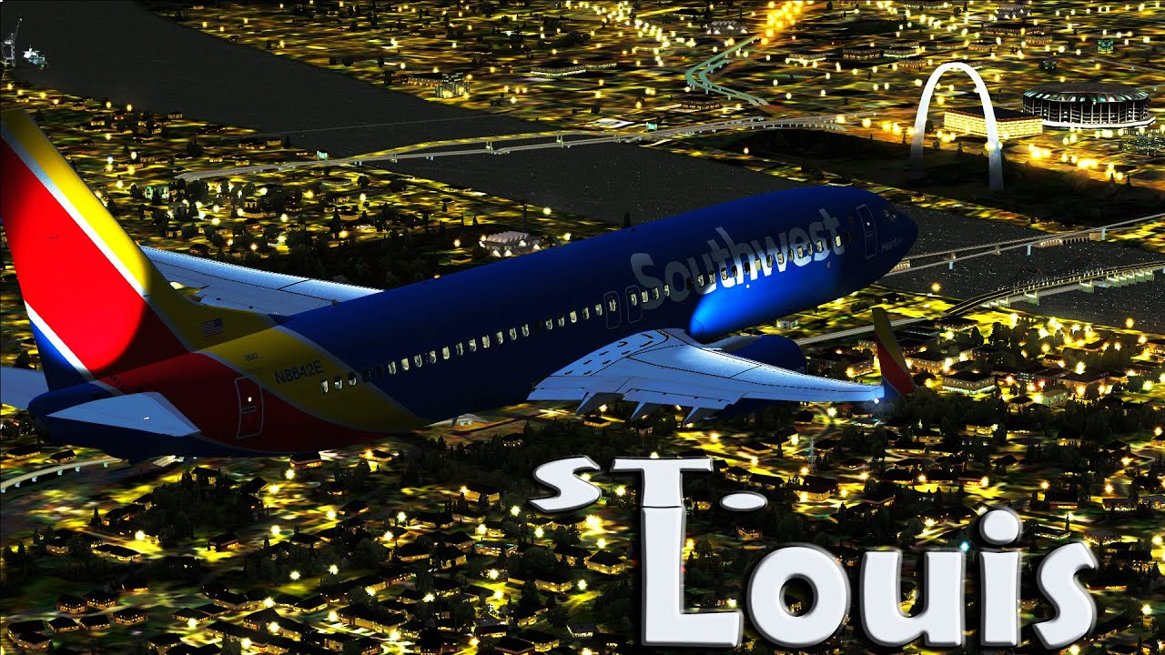 St Louis Taxi >> |FSX| Southwest 737-800 Night Approach to St. Louis - YouTube