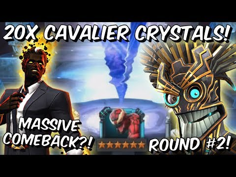 20x 6 Star Warlock Cavalier Featured Crystal Opening Round #2! - Marvel Contest of Champions