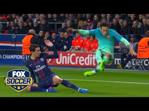 This Neymar dive against PSG in the Champions League was not pretty | @TheBuzzer | FOX SOCCER
