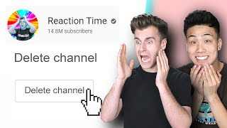 Deleting Reaction Times YouTube Channel Prank!