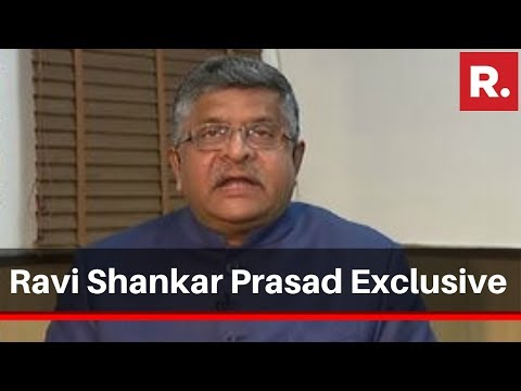 Law Minister Ravi Shankar Prasad Speaks Exclusively To Republic TV Over CAA Protest