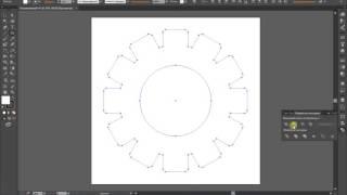 Как быстро нарисовать иконку шестеренки в Adobe Illustrator (How draw gear icon)
