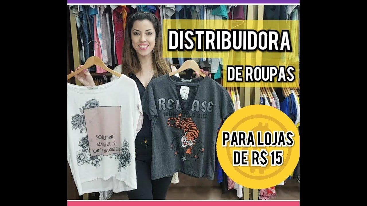 989231ea3 Distribuidora de Roupas para Loja de 15 reais - YouTube