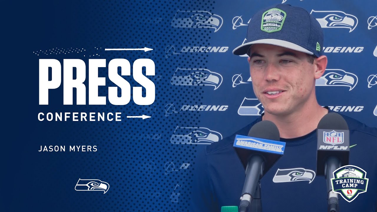 Seahawks Kicker Jason Myers Training Camp Day 9 Press Conference