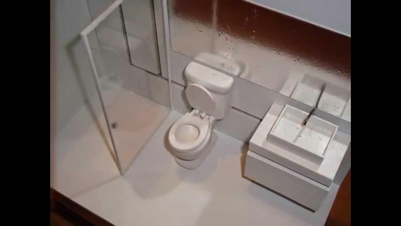 Maquete de banheiro ecologicamente correto  YouTube -> Como Fazer Uma Pia De Banheiro Para Maquete