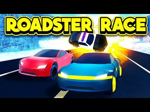 RACING THE NEW TESLA ROADSTER! (ROBLOX Jailbreak)