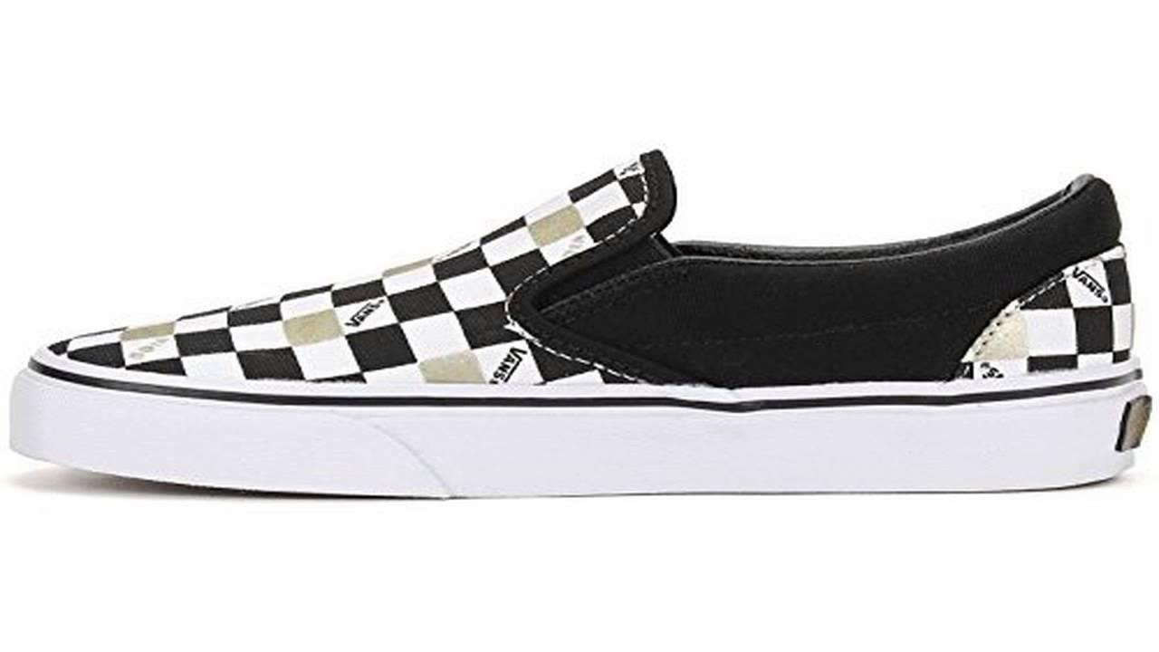 vans slip on black 8