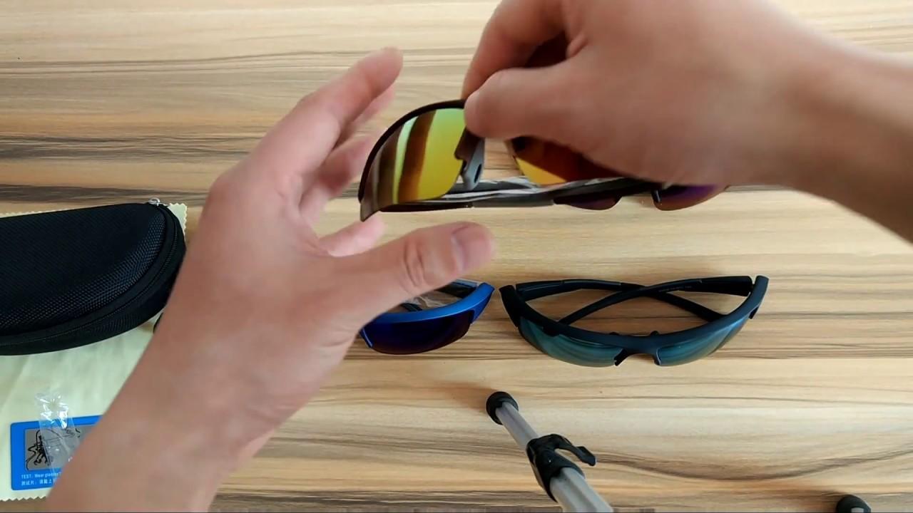 b3a1243586 Polarized Mirrored Sport Wrap Around Sunglasses Semi-Rimless PC Frame For  Fishing