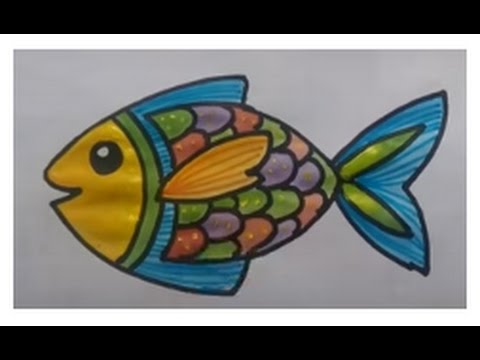 How To Draw Fish Paint For Beginners