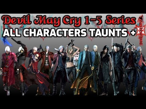 Devil May Cry 1,2,3,4,5 - Dante, Nero, V, Vergil, Trish, Lady All Taunts + Stuff Collection thumbnail