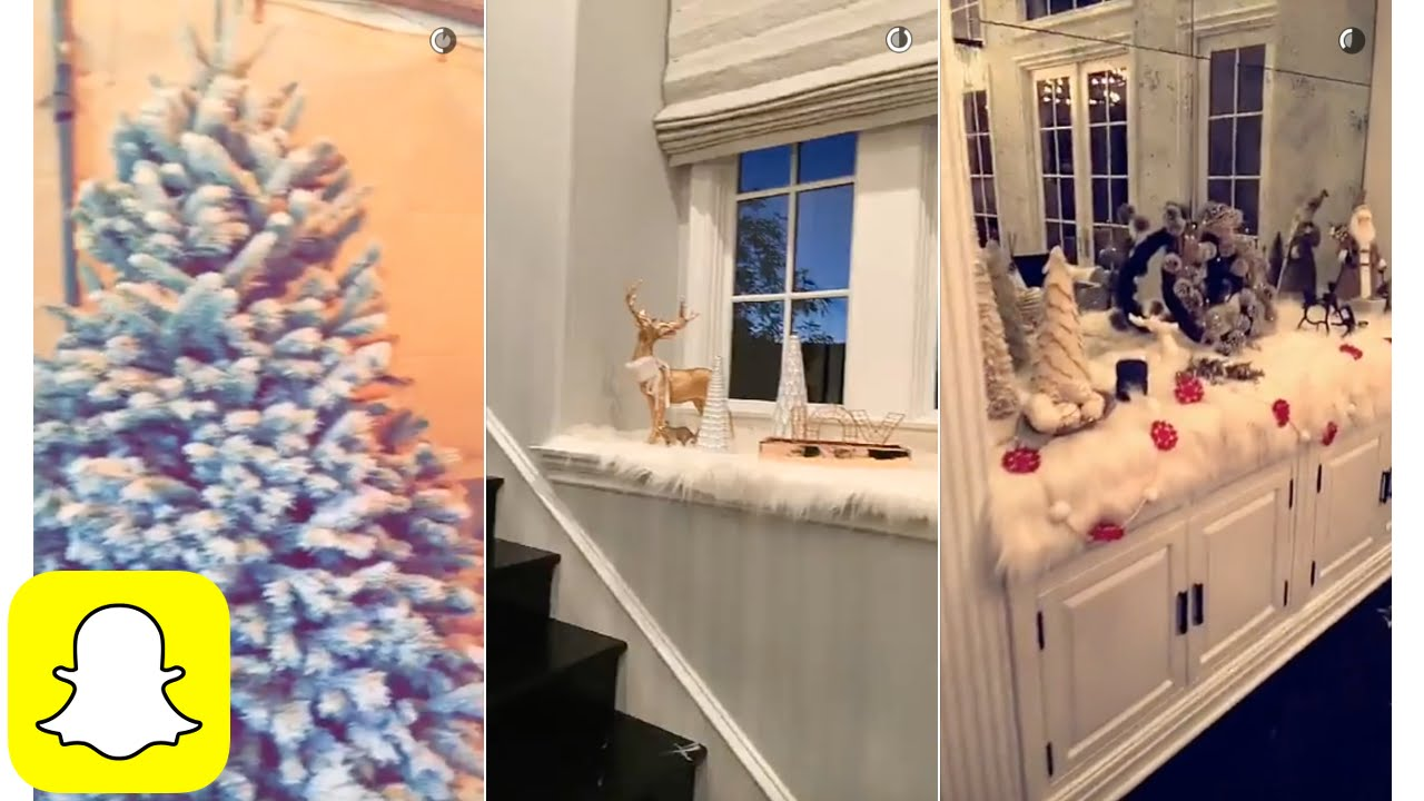 Kylie Jenner shopping christmas decoration on Snapchat  YouTube