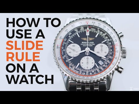 How To Use A Slide Rule On A Watch | Breitling Navitimer