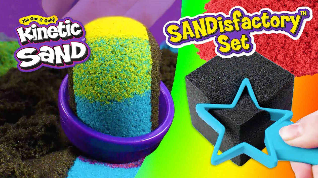 NEW Kinetic Sand Sandisfactory Set! How To Play
