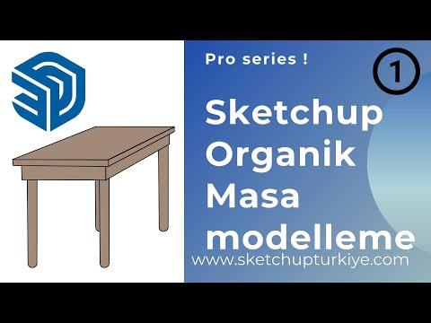 Sketchup Organik Masa Modelleme 02