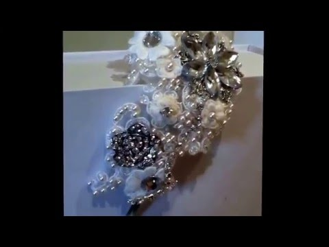 Jazmin, bridal side tiara,beautiful