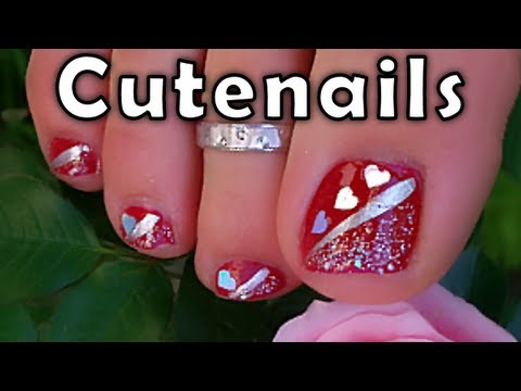 Pedicure Toe Feet Nail Art By Cute Nails Youtube