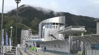 中央リニア新幹線の走行試験が見れるリニア見学センターの入り口の風景