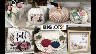 BIG LOTS FALL HOME DECOR 2019 SHOP WITH ME!