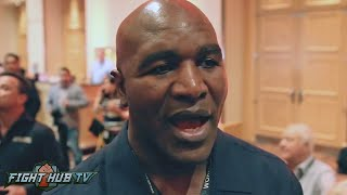 Evander Holyfield on who had a bigger punch Mike Tyson or George Foreman?
