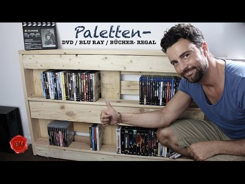 paletten dvd bluray b cher regal tutorial i ben 39 s mission ibowbow. Black Bedroom Furniture Sets. Home Design Ideas