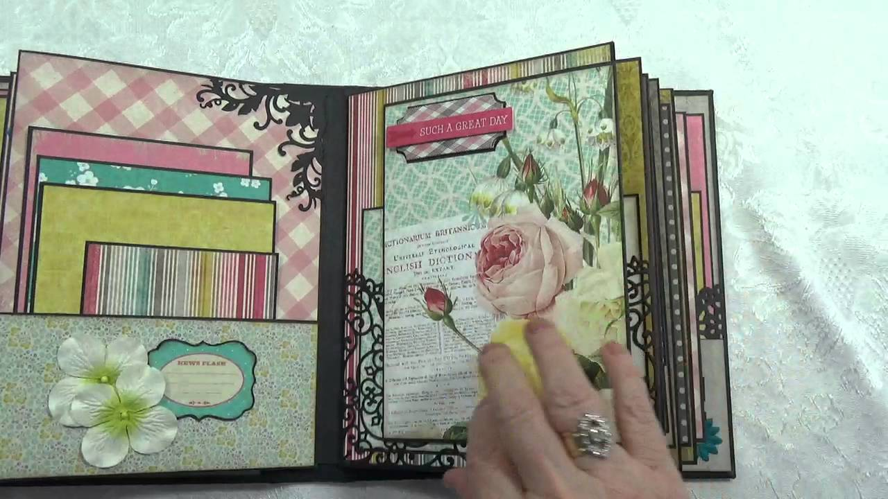 Quot our story chipboard scrapbook photo album youtube