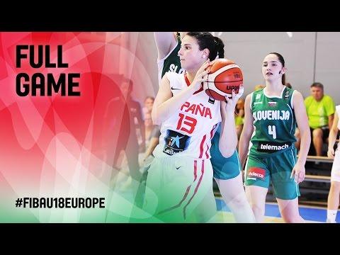Spain v Slovenia - Full Game - R 16 - FIBA U18 Women