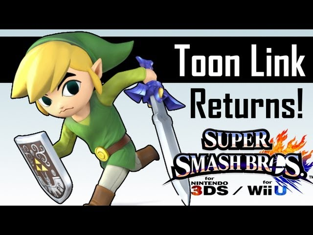 Toon Link confirmed for Super Smash Bros. Wii U / 3DS! - Gameplay Screenshots Travel Video
