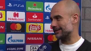 Pep Guardiola im DAZN Interview nach Schalke vs Manchester City