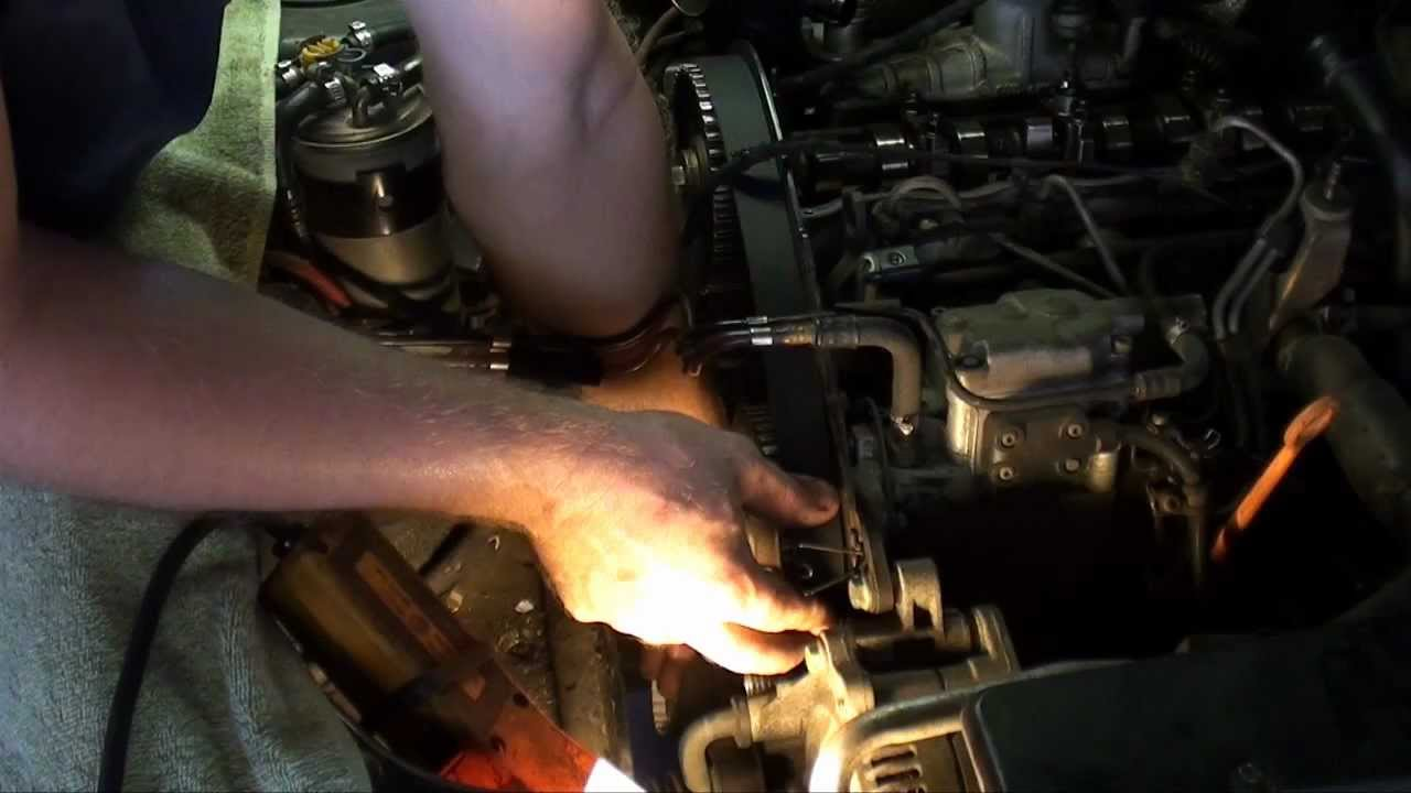 Part 2 Vw Jetta Tdi Timing Belt Replacement 19 Turbo Diesel Youtube 0 L Engine Diagram