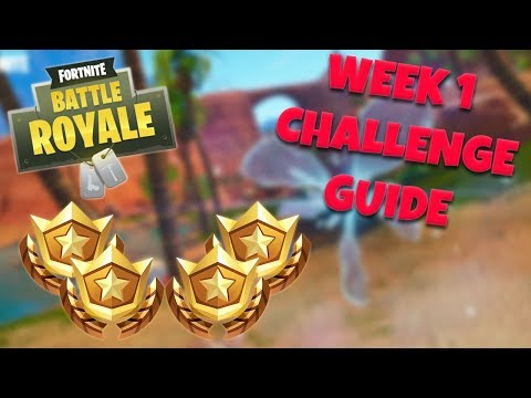 HOW TO COMPLETE ALL WEEK 1 CHALLENGES – SEASON 5 | FORTNITE BATTLE ROYALE TIPS/TUTORIALS