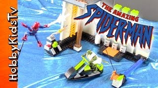 SPIDER MAN and LIZARD MEGA BLOCKS SEWER KIT box opening by HobbyKidsTV