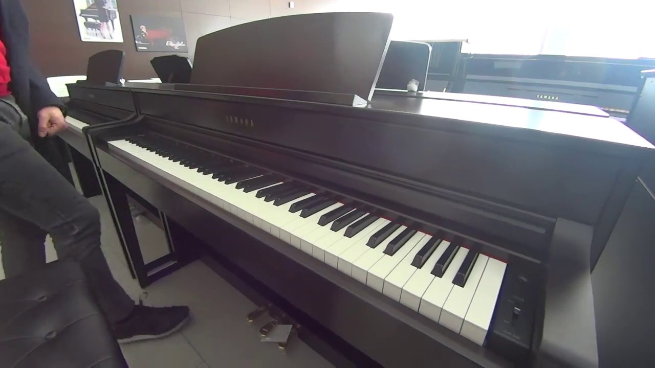 yamaha clavinova clp 535 youtube. Black Bedroom Furniture Sets. Home Design Ideas