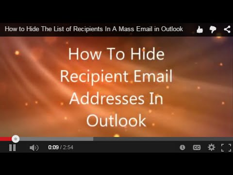 How to Hide The List of Recipients In A Mass Email in Outlook