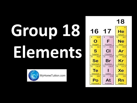 Group 18 Elements Periodic Table Youtube