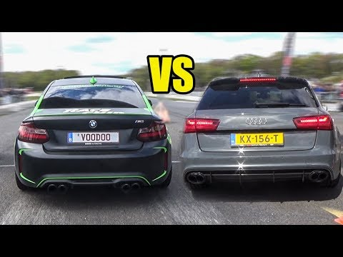 Drag Race Audi Rs5 Vs Bmw M4 Competition Pack