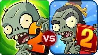 Plants Vs Zombies 2 vs Plants vs Zombies 2 China Version Zomboss Battle!