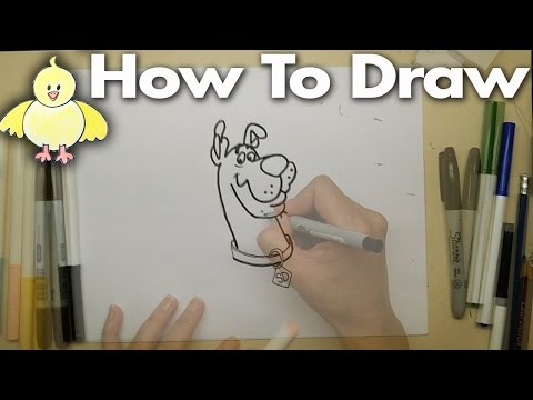 Drawing Cartoons:  How To Draw Scooby Doo - Step By Step For Beginners